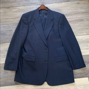 Brooks Brothers Brooksease Navy Houndstooth Suit